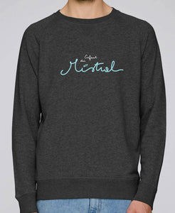 "Sweat Homme ""Enfant du Mistral"" Gris Chiné"