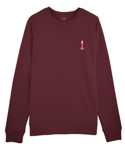 "Sweat Homme ""Sardine Fraise"" Bordeau"