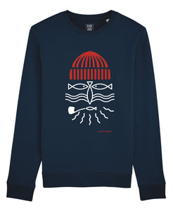 "Sweat Mixte Navy ""Pêcheur"""