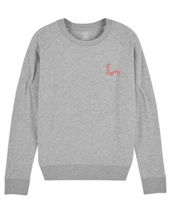 "Sweat F Gris  ""Love"""