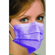 Breathe E-Z Dual Fit Ear-Loop Face Mask (Pleated) BLUE 50/BX (LEVEL 1)