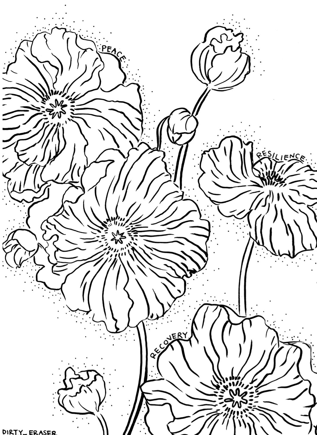 FREE COLORING PAGE - POPPY