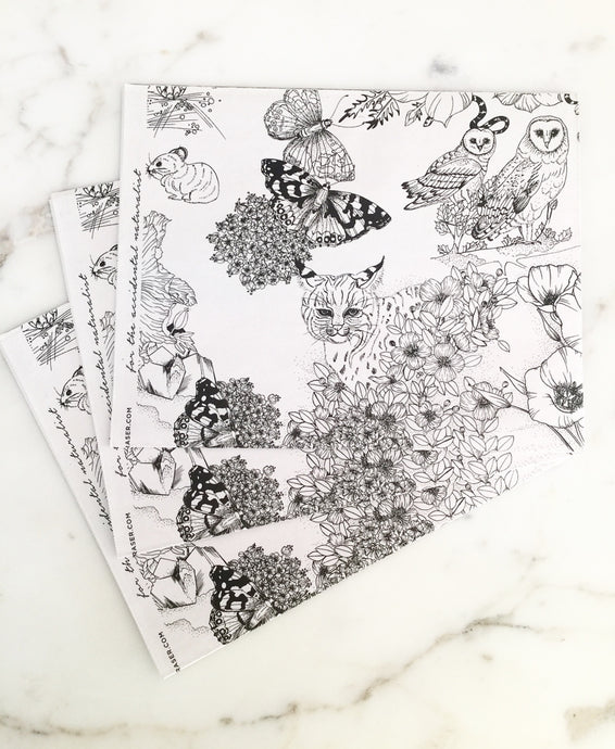Flora and Fauna wrapping paper