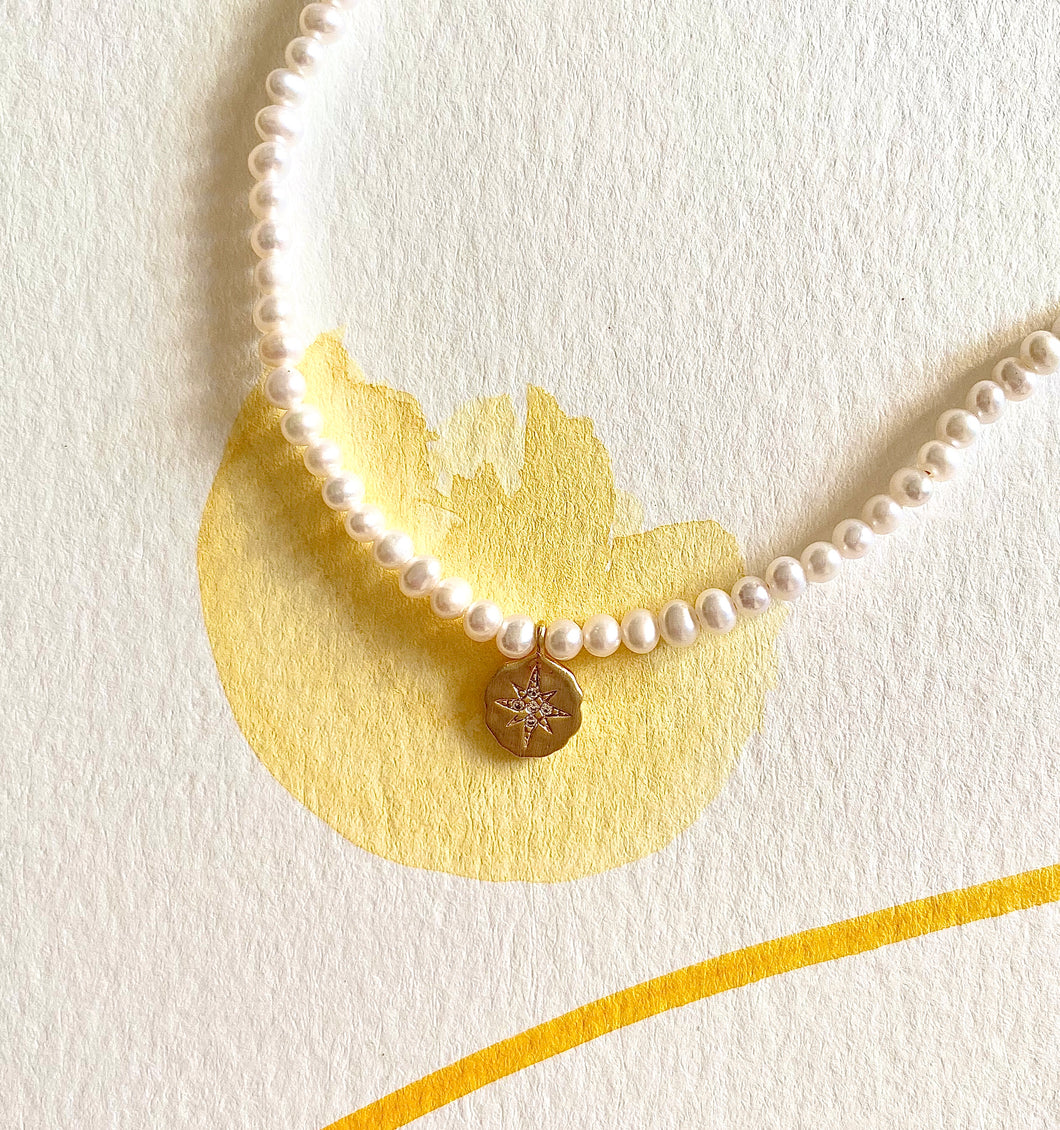 Sacred Light Seed Pearl Necklace