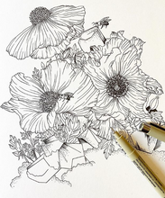 Load image into Gallery viewer, FLORAL ILLUSTRATION WORKSHOP