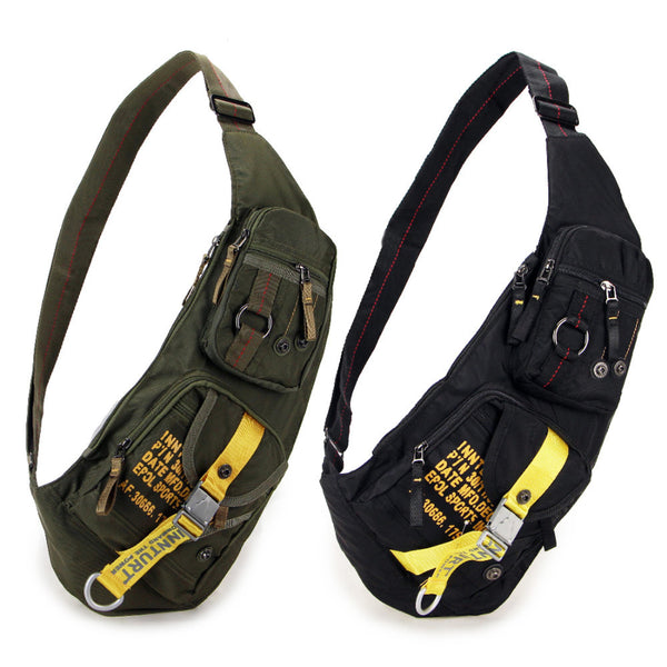 New Waterproof Nylon Chest Bag Travel Military Cross Body Messenger One Shoulder Back Day Pack High Quality Men Sling Rucksack