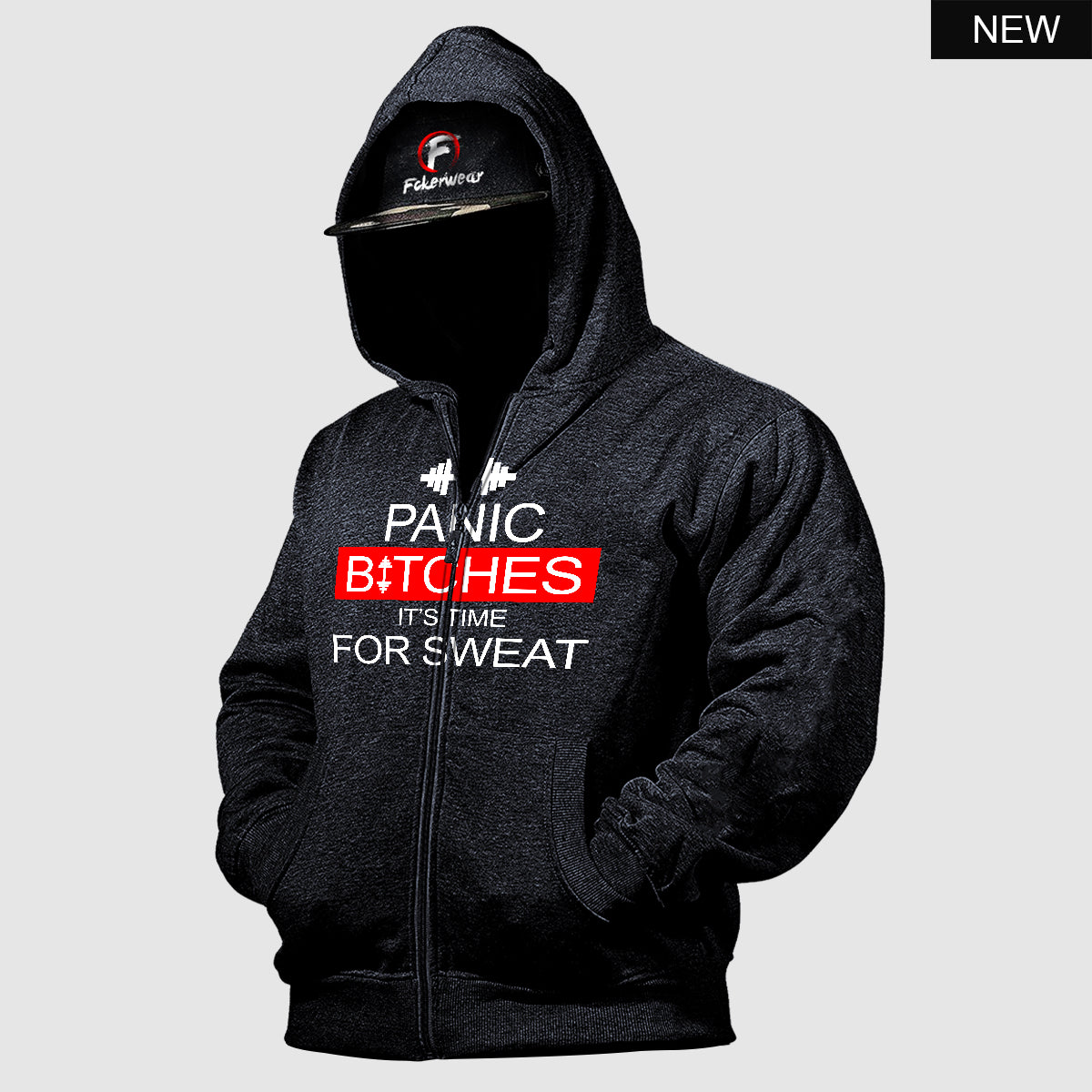 Panic Bitches its time for Sweat™  zip hoodie