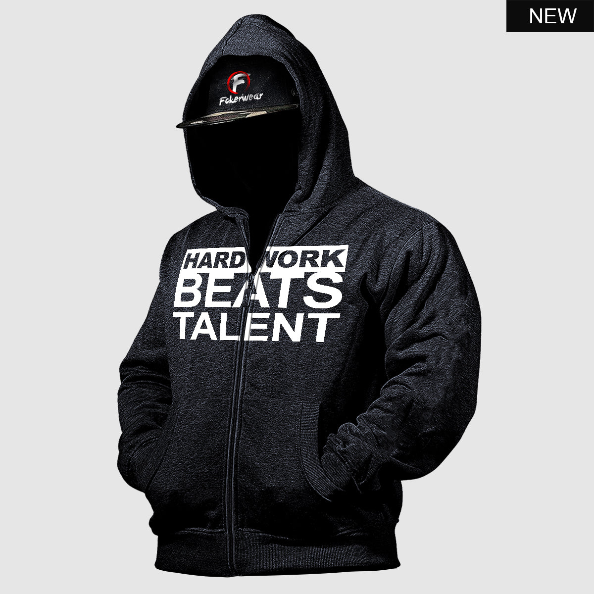 Hard Work Beats Talent™ zip hoodie