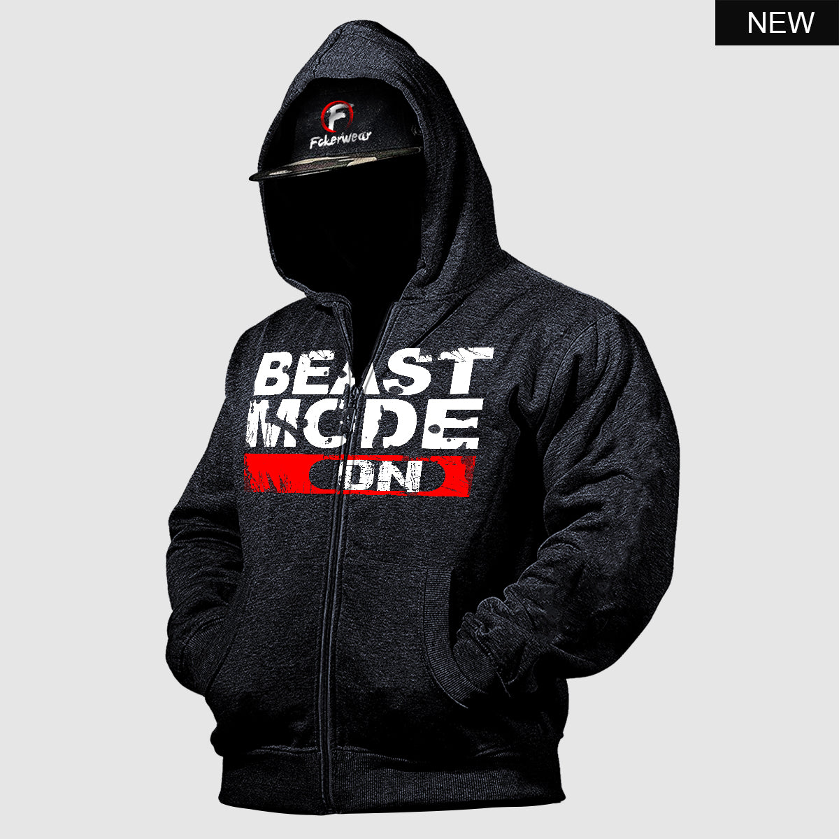 Beast Mode On™  zip hoodie