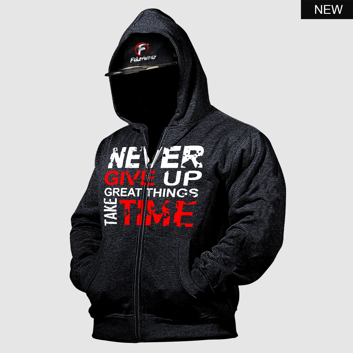 Never Give Up™ zip hoodie