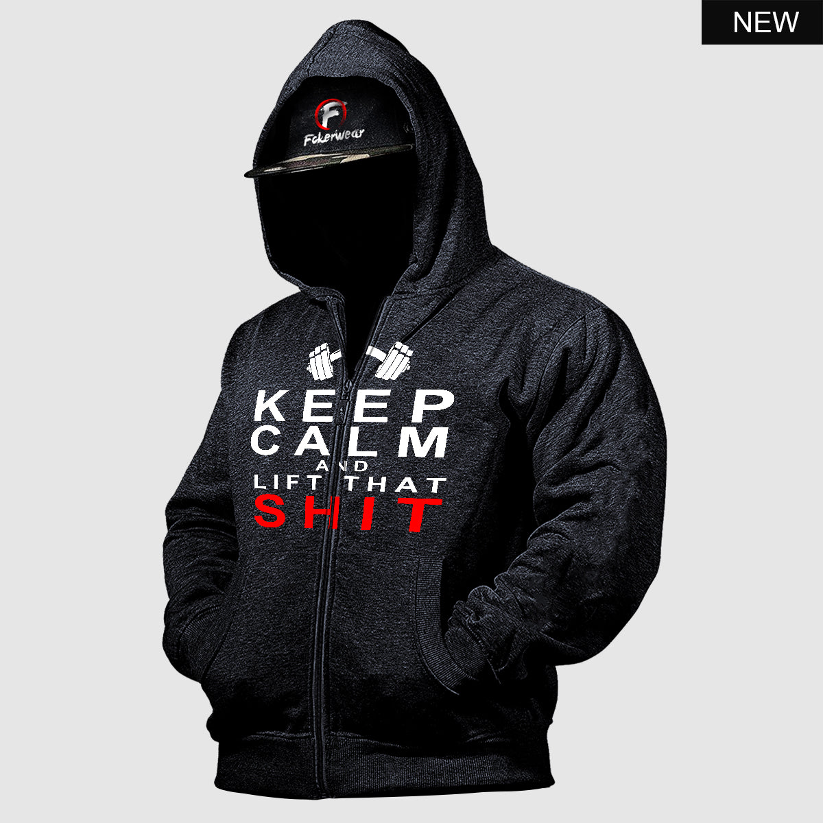Keep Calm and Lift that Shit™ zip hoodie