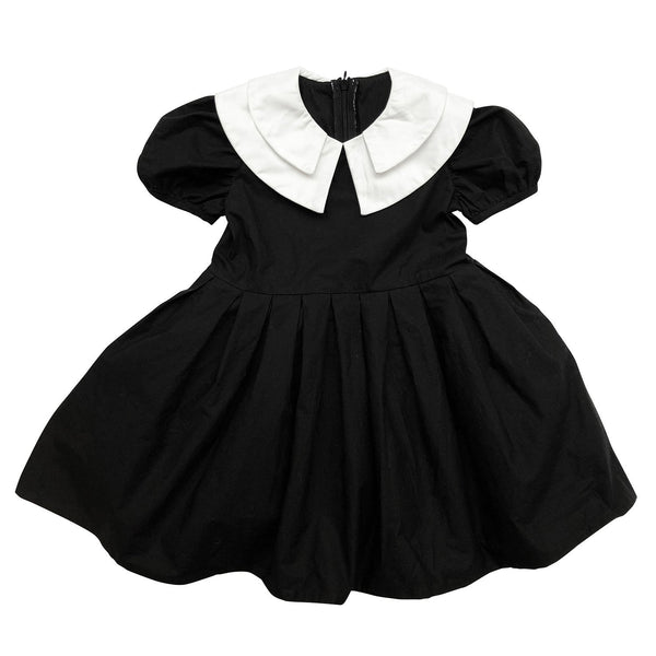 DOUBLE COLLAR DRESS - ALL BLACK - The Tiny Universe Dress