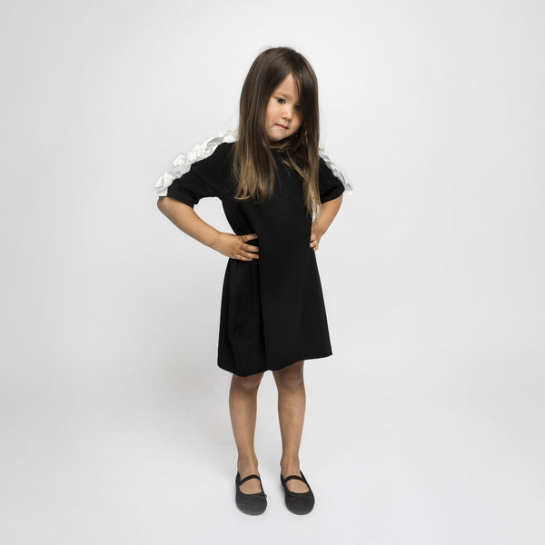 Snake Shoulder Dress - Black - The Tiny Universe Dress