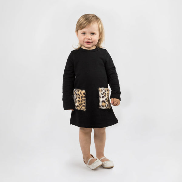THE LEOPARD POCKET DRESS - The Tiny Universe Dress