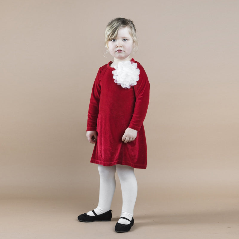 THE TINY FLOWER VELOUR - X-MAS RED - The Tiny Universe Dress
