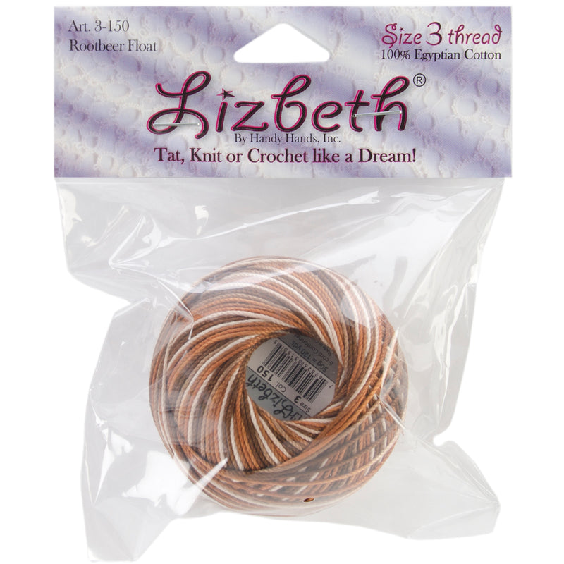 Handy Hands Lizbeth Cordonnet Cotton Size 3-Rootbeer Float (Pack Of 17) 051155 By Notions Marketing