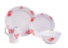 1091-L 16 Galleyware Coral 16 Piece Melamine Non-skid Dinnerware Set - Comstrom