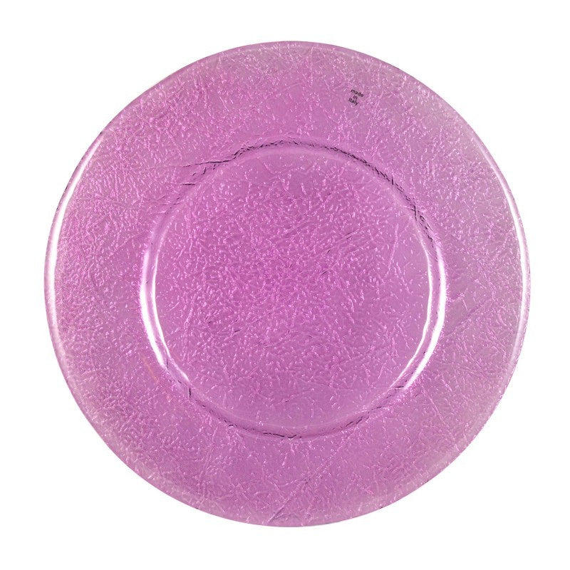 "10 Strawberry Street 13"" Botanica Amethyst Glass Charger Pack Of 6 BTNCA-340 - Comstrom"