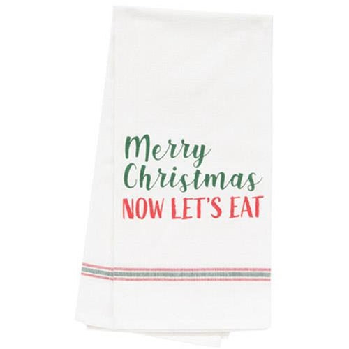 CWI Gifts G28000 Now Let'S Eat Dish Towel