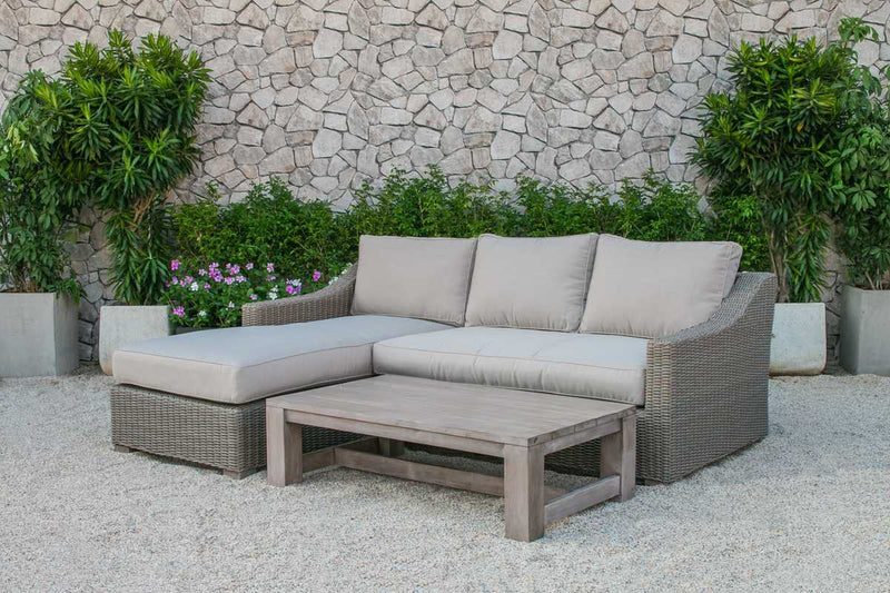Homeroots Outdoor Wicker Sectional Sofa Set 282706