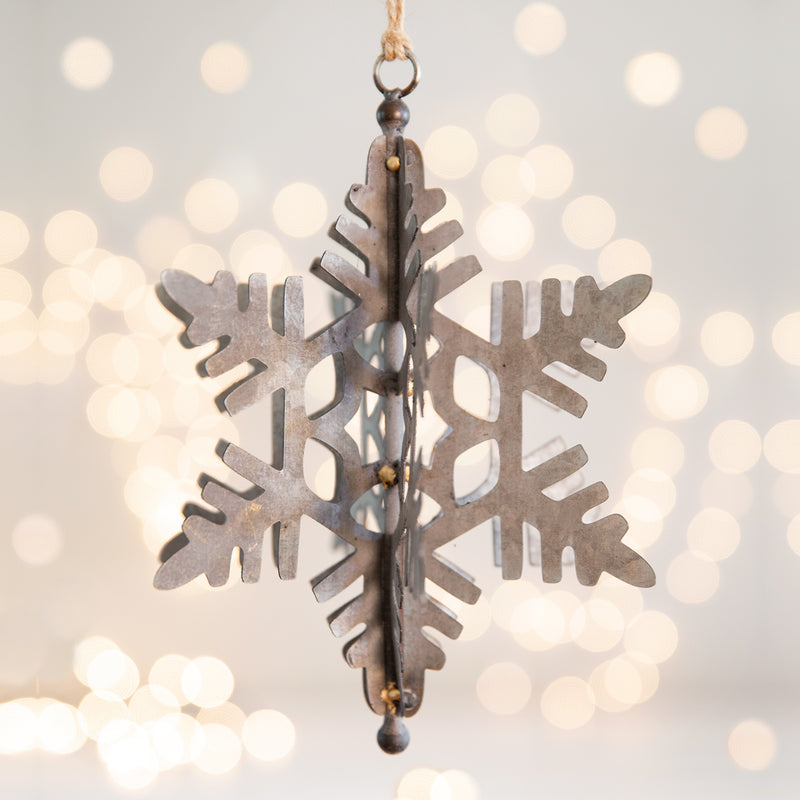 CTW Home Blizzard Snowflake Ornament (Pack Of 2) 770221