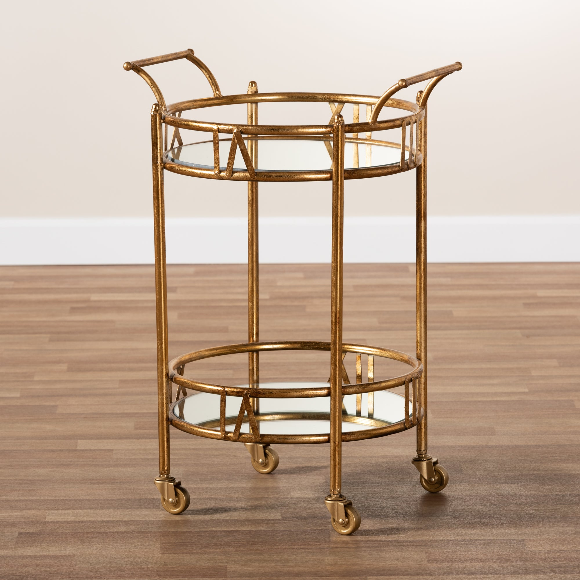 Antique Gold Baxton Studio Trolleys and Carts