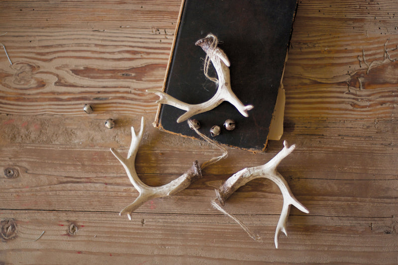 Resin Antler Ornament - Natural (Pack Of 6) Crs1056