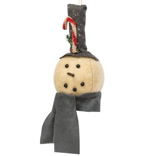 Gray Scarf Snowman Ornament GCS37693 By CWI Gifts - Comstrom