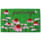 Natura Daisy Greetings Outdoor Mat Green 18