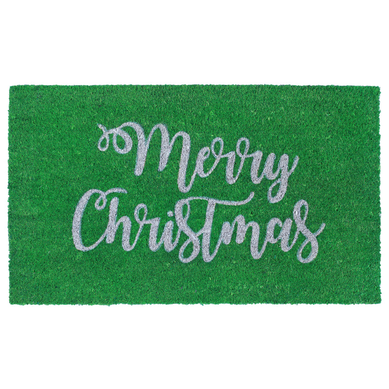 "Natura Merry Christmas Outdoor Mat Green 18""X30"" NTR12207306 - Comstrom"