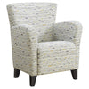 Monarch Accent Chair Earth Tone Graphic Pattern Fabric I