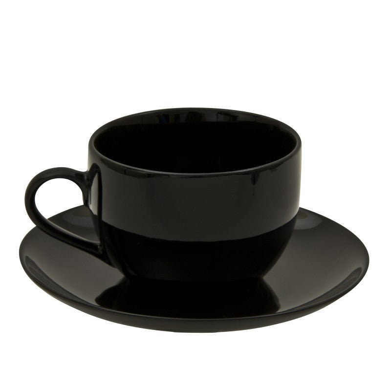 10 Strawberry Street Black Coupe 8-Ounces Coupe Cup/Saucer- Pack Of 24 BCP0009 - Comstrom