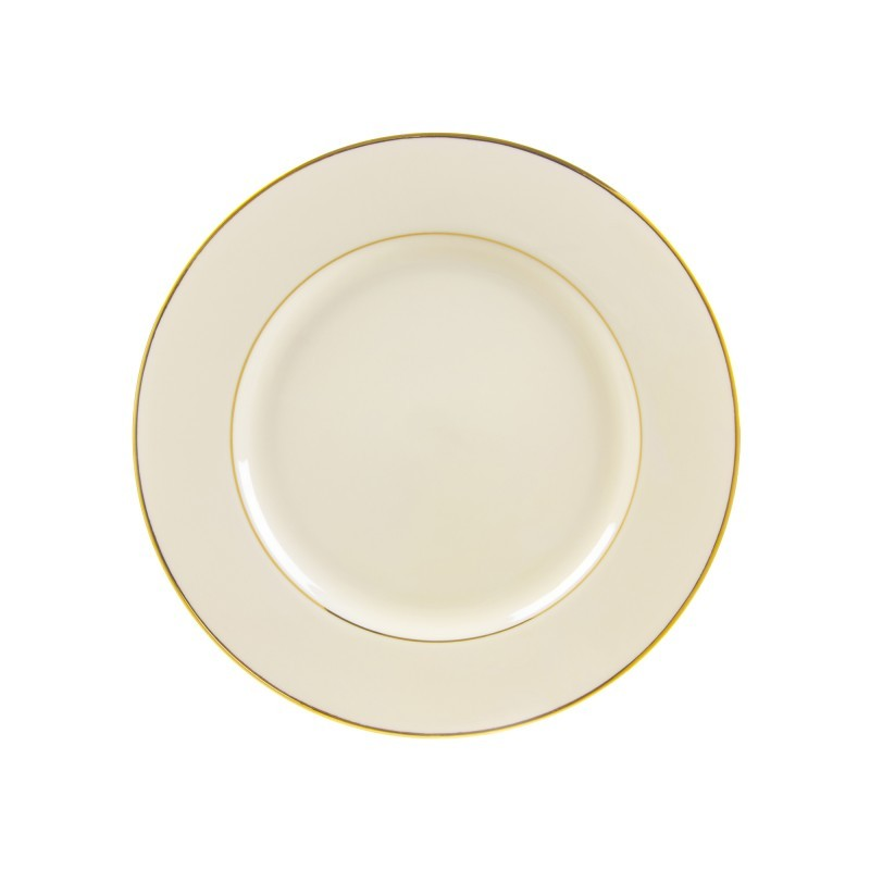 "10 Strawberry Street Cream Double Gold 9.13"" Luncheon Plates- Pack Of 24 CGLD0002 - Comstrom"
