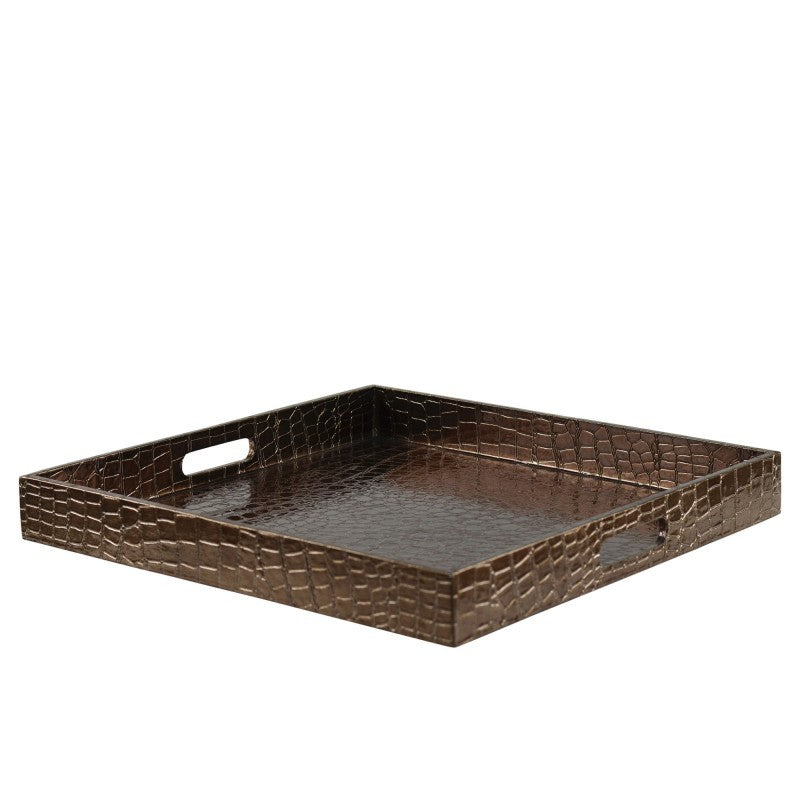 "10 Strawberry Street Gator 15"" Brown Square Tray- Pack Of 8 GATR-BRNSQ - Comstrom"