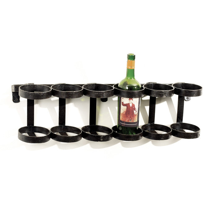 Black Iron Wine Rack