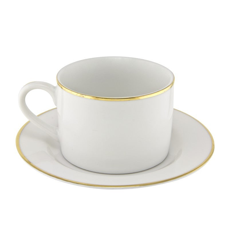 10 Strawberry Street Gold Line 6-Ounces Can Cup/Saucer- Pack Of 24 GL0009 - Comstrom