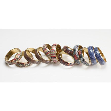 Print Bangle Assorted 12 (Pack Of 12) 12851