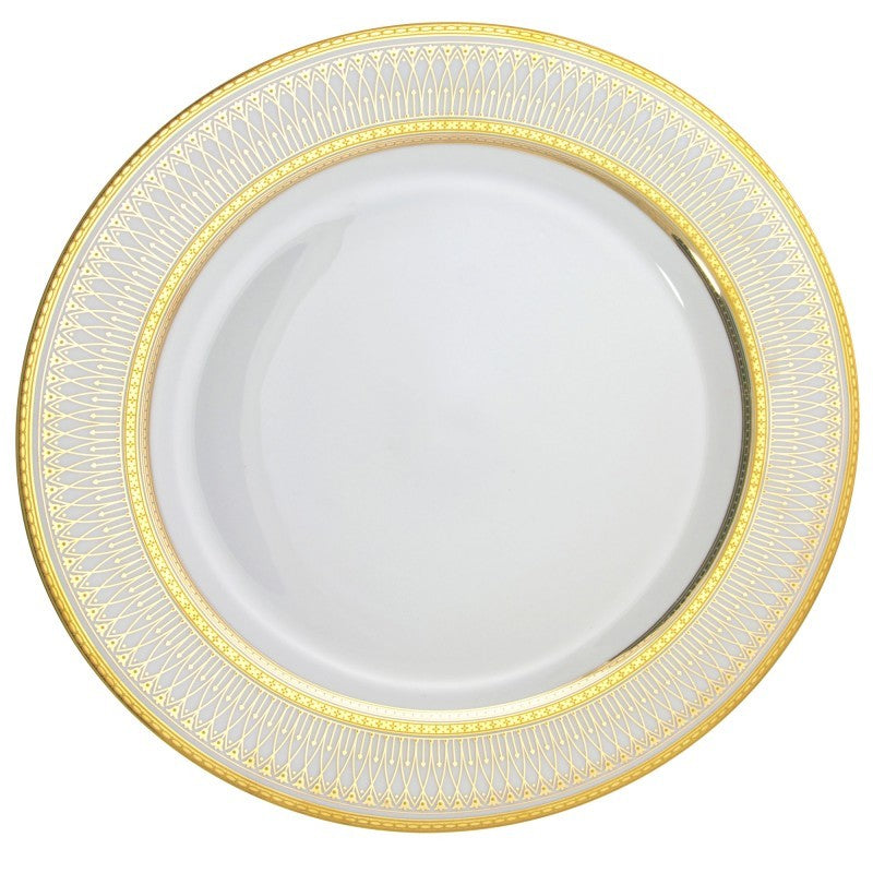 "10 Strawberry Street Iriana 12"" Gold Charger Plates- Pack Of 12 IRIANA-24GLD - Comstrom"