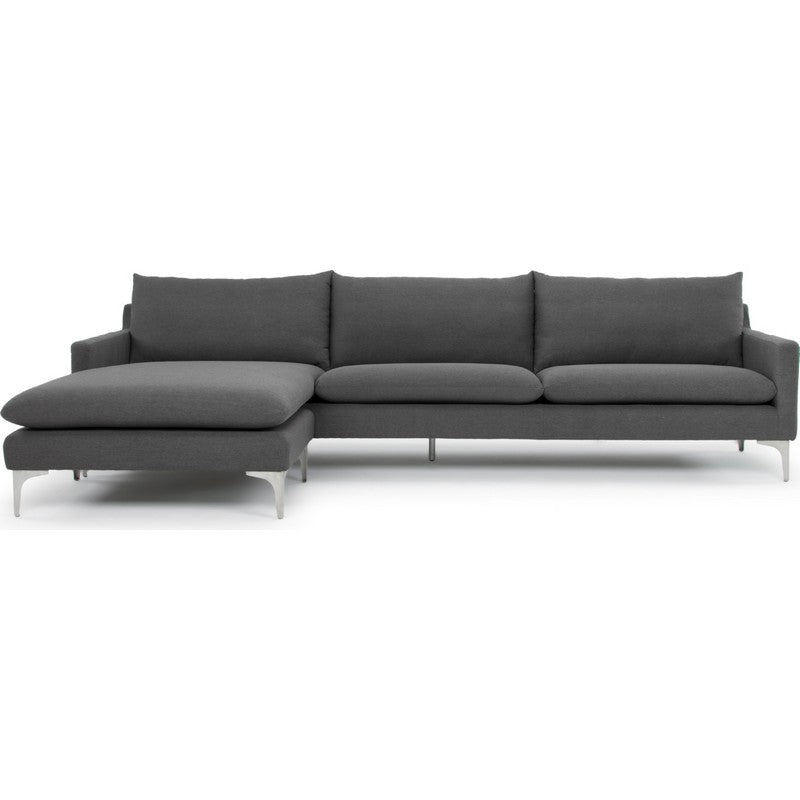 Nuevo Anders Sectional Sofa - Slate Grey/Silver Hgsc230