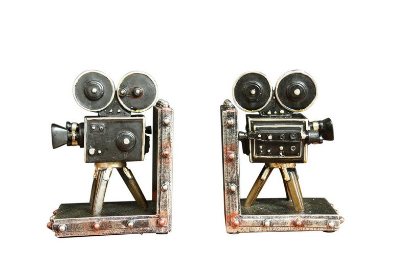 W8000-18 Oh! Trendy Vintage Movie Camera Film Bookends
