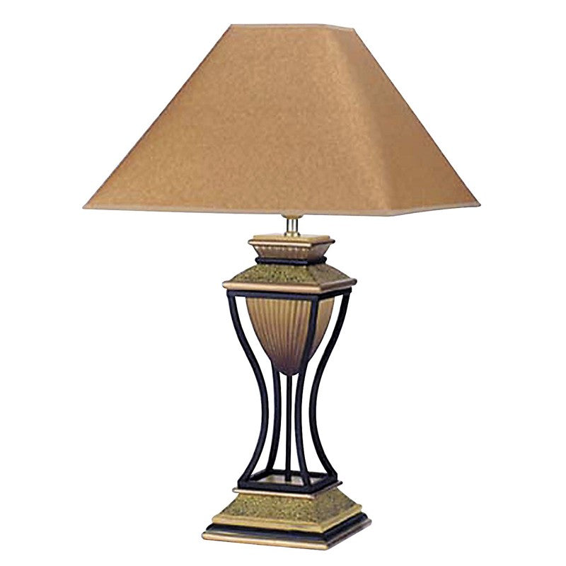 Ore International 32In. Home Deco Table Lamp -Antique Bronze-Gold 8008