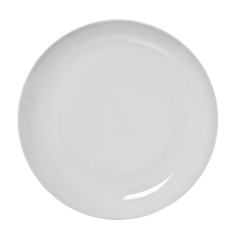 "10 Strawberry Street Royal Coupe White 10.75"" Dinner Plates- Pack Of 24 RCP0040 - Comstrom"