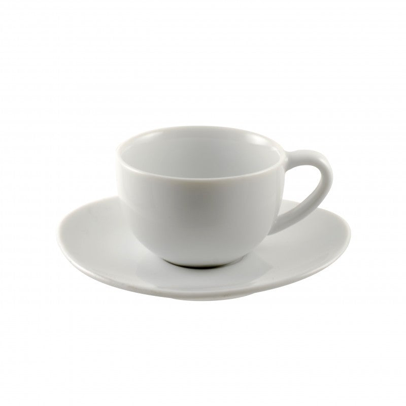 10 Strawberry Street Royal Oval White 4-Ounces Demi Cup/Saucer- Pack Of 24 RVL0428 - Comstrom