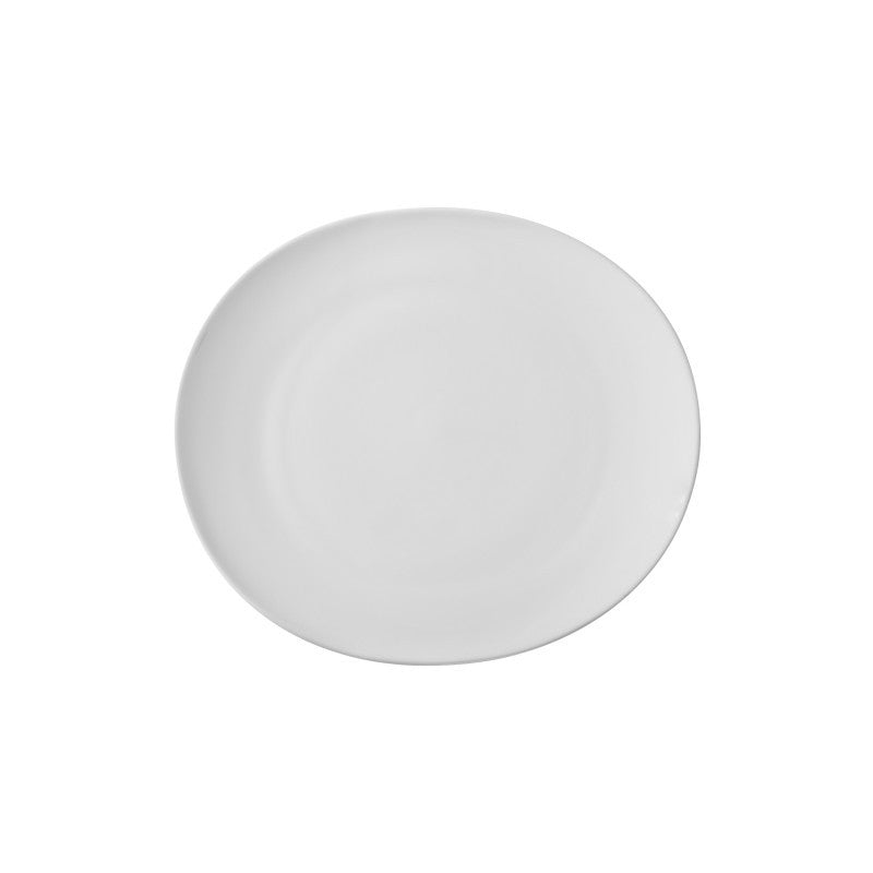 "10 Strawberry Street Royal Oval White 7"" Bread & Butter Plates- Pack Of 24 RVL0005 - Comstrom"
