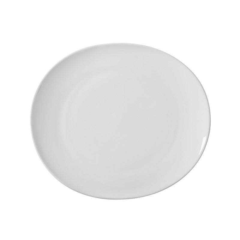 "10 Strawberry Street Royal Oval White 9"" Salad/Dessert Plates- Pack Of 24 RVL0008 - Comstrom"