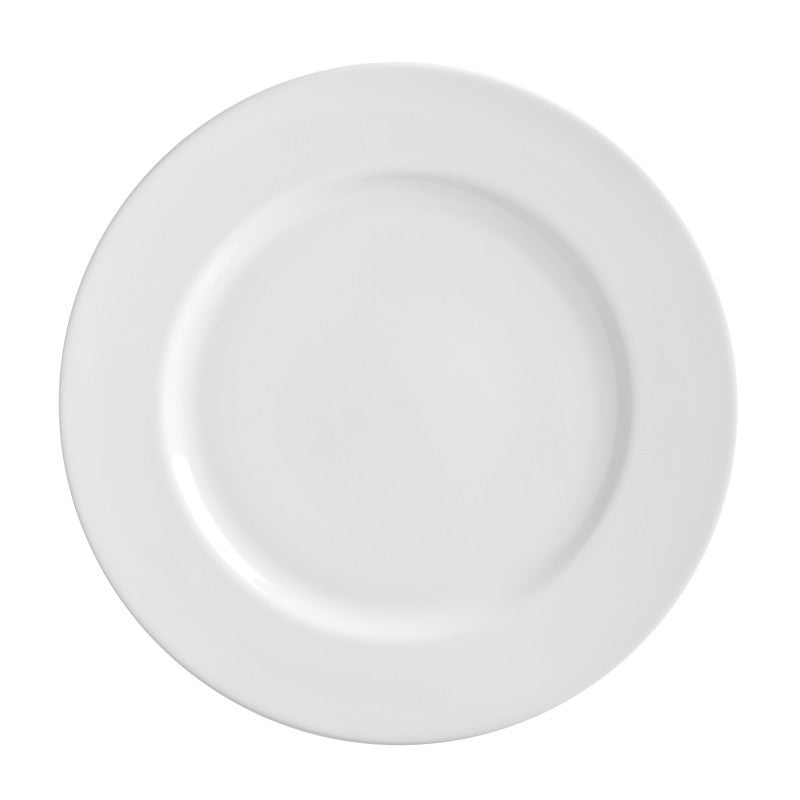 "10 Strawberry Street Royal White 11"" 11"" Dinner Plates- Pack Of 24 RW0040 - Comstrom"