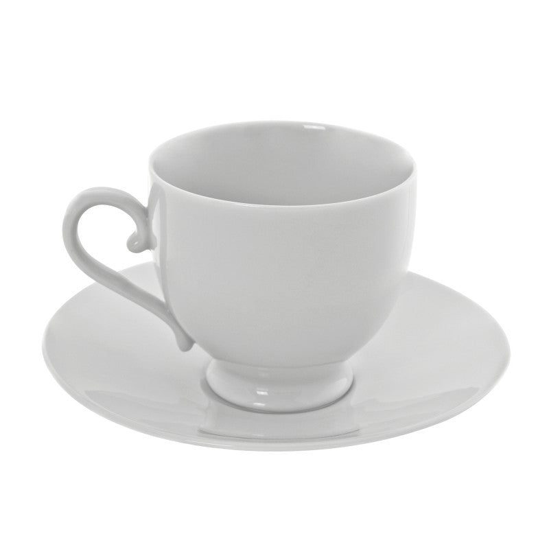 10 Strawberry Street Royal White 8-Ounces Sophia Cup/Saucer- Pack Of 24 RW0010 - Comstrom