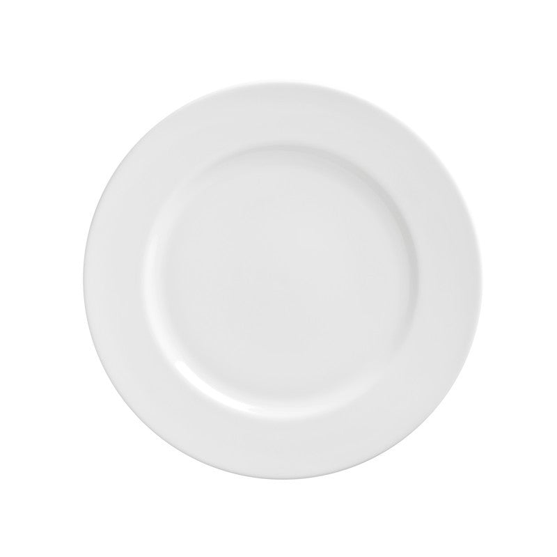"10 Strawberry Street Royal White 9.13"" Luncheon Plates- Pack Of 24 RW0002 - Comstrom"