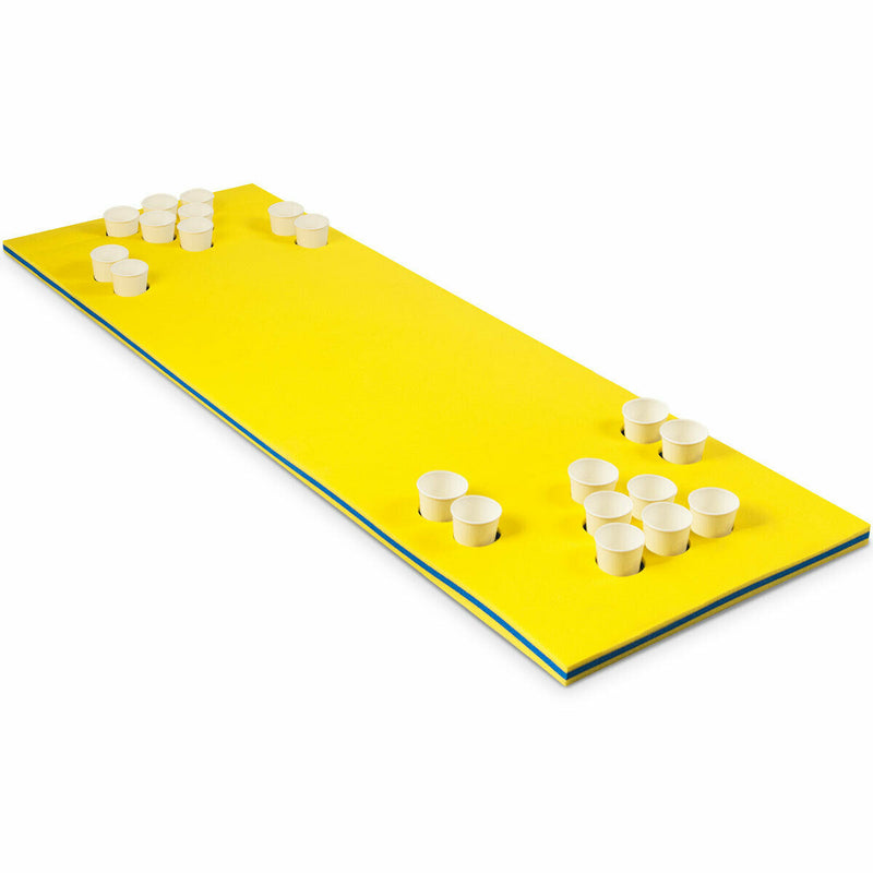 3-Layer Multi-Purpose Floating Beer Pong Table-Yellow OP70258YE