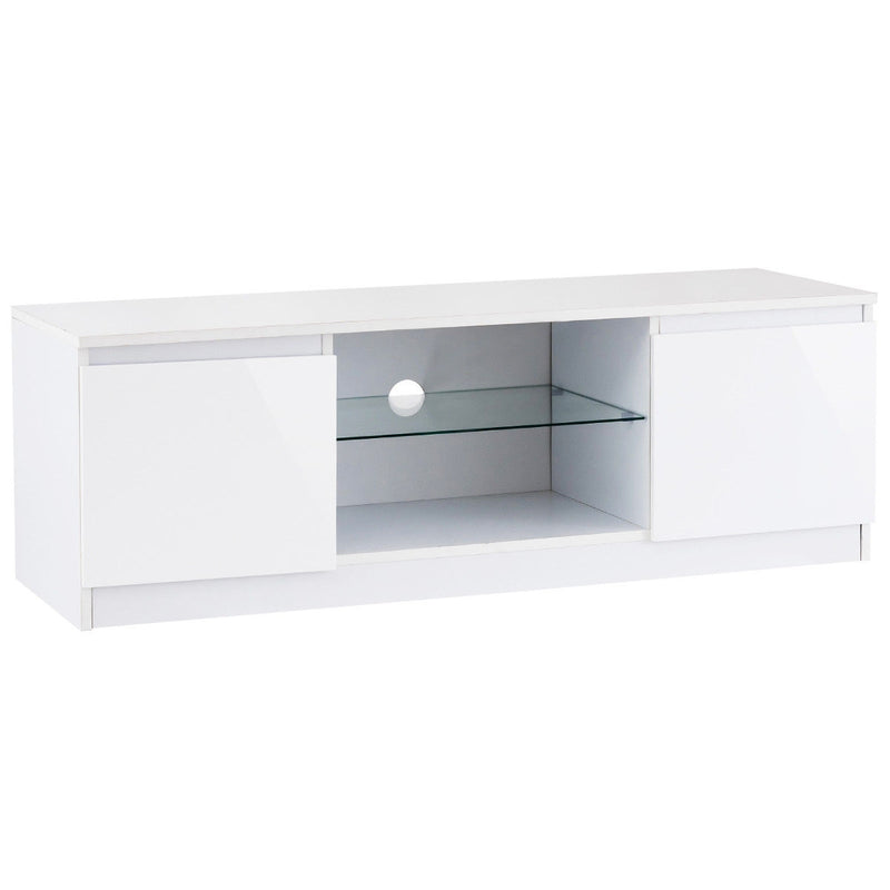 High Gloss Tv Stand Unit Cabinet Media Console Furniture-White HW56644WH